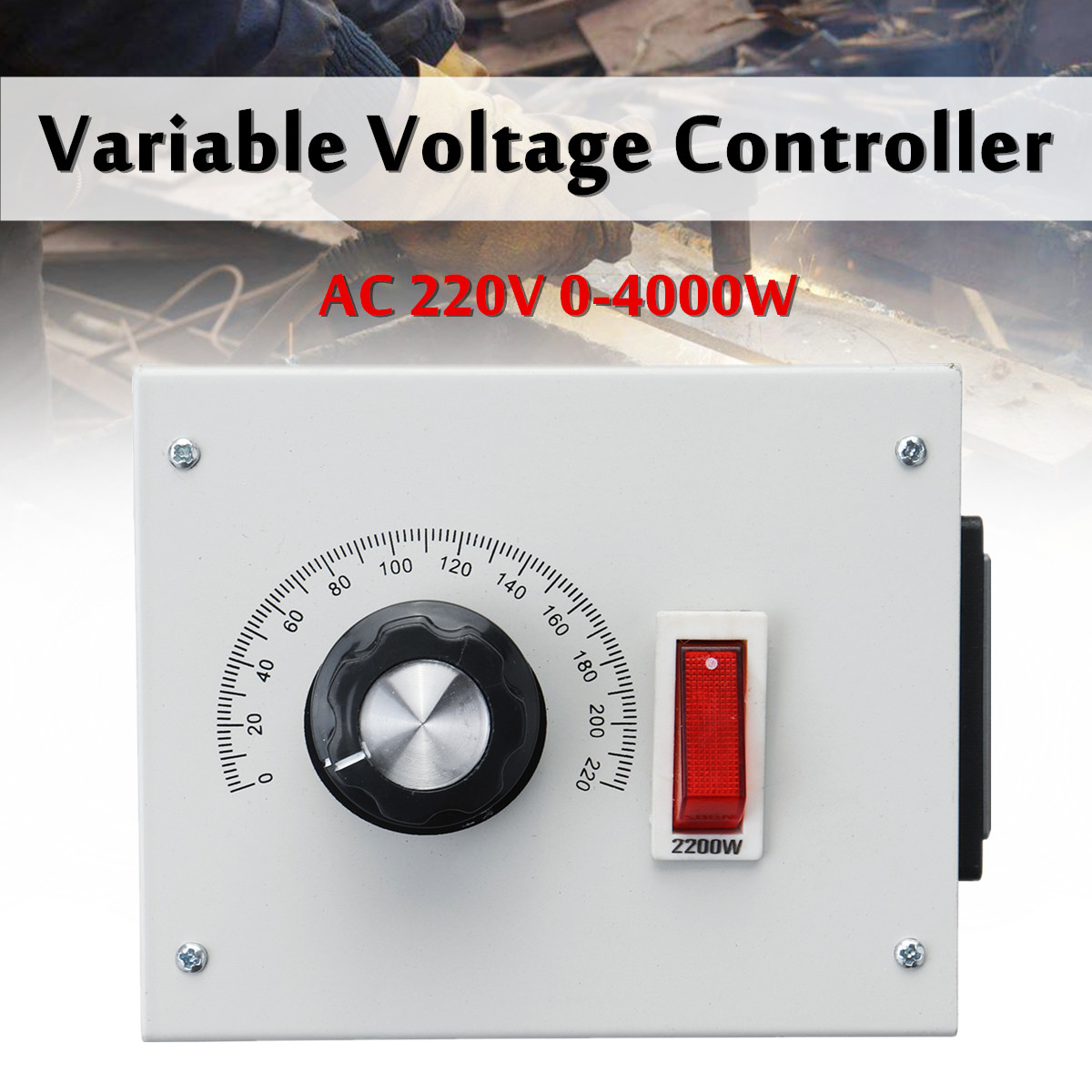 4000W AC 220V Variable Voltage Dimmer Controller Control For Fan Speed Motor Dimmer