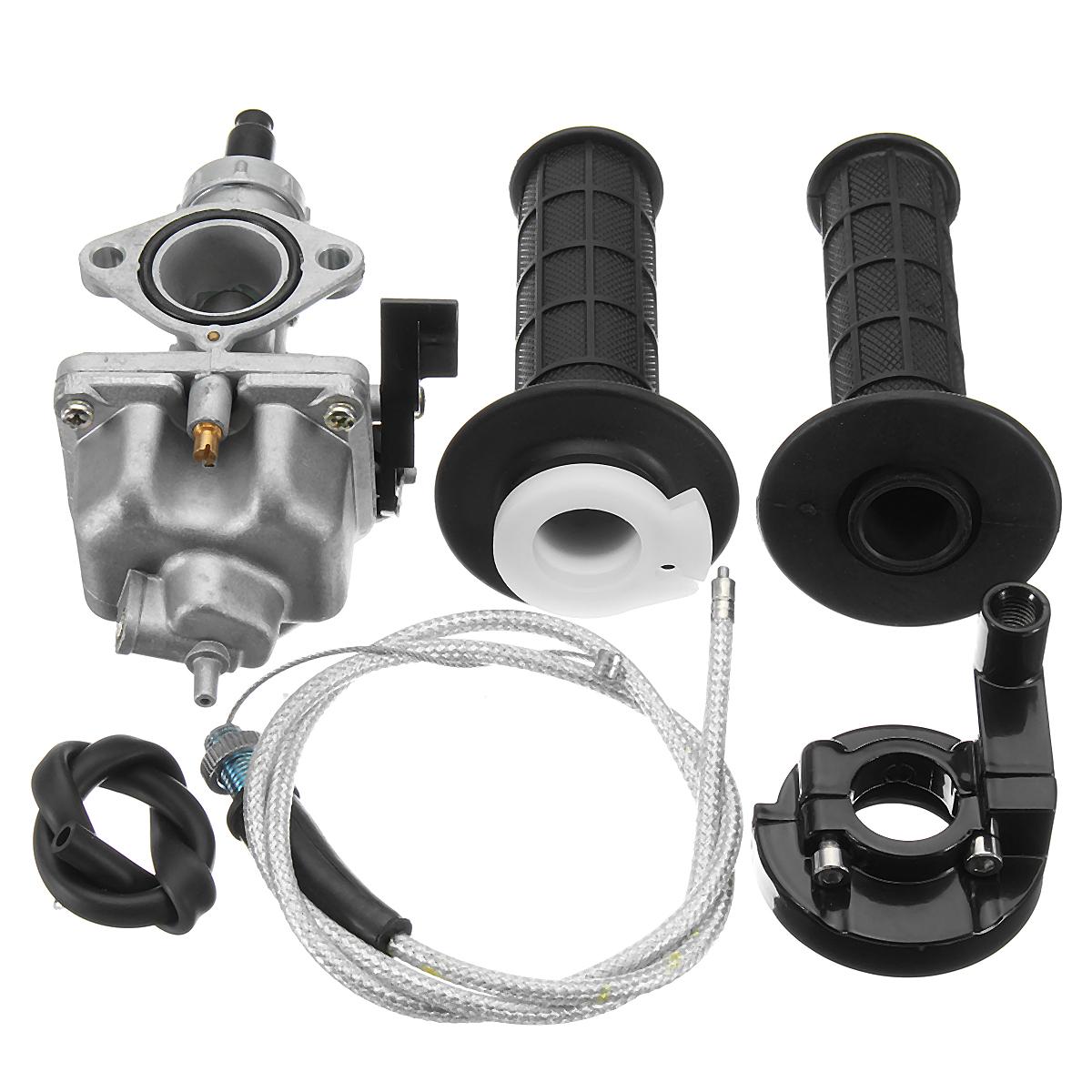 Handlebar Hand Grips Carburetor Throttle Cable For Honda XR100 XR100R CRF100F