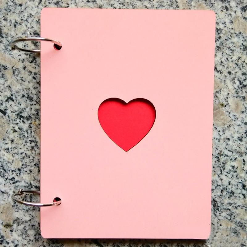 6 inch Wooden Photo Album Love Retro Manual Loose-leaf Pasted Baby Lovers
