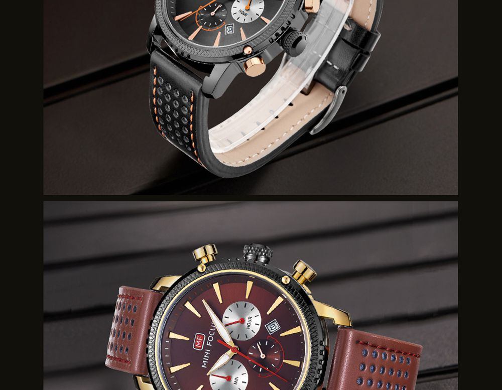 MINI FOCUS MF0010G Business Style Luxury Men Wrist Watch