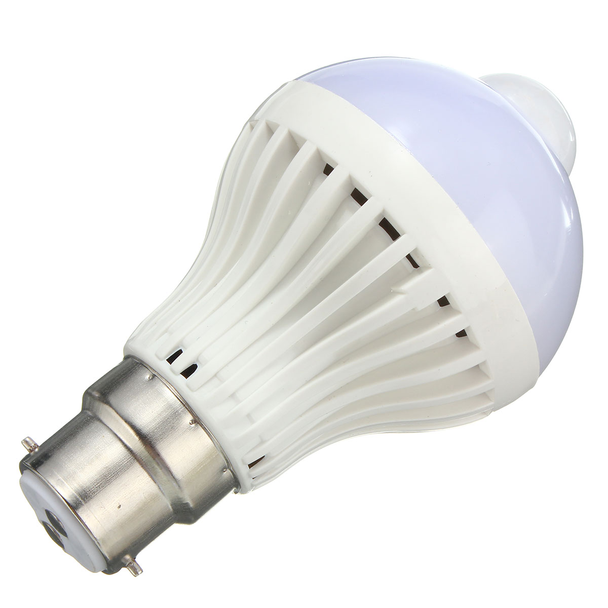 E27 B22 5W Auto PIR Motion Sensor LED Infrared Energy Saving Light Lamp Bulb AC85-265V