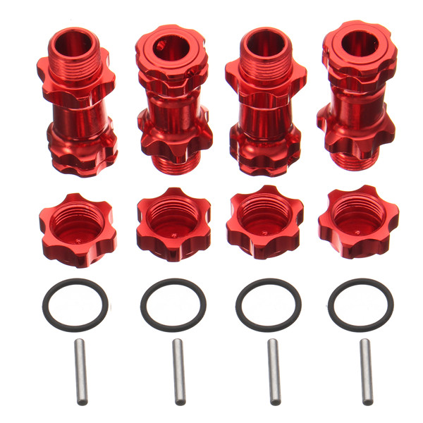 1SET Aluminum 17mm Wheel Hex Hub Extension Adapter Red 30mm For 1:8 Scale RC Car