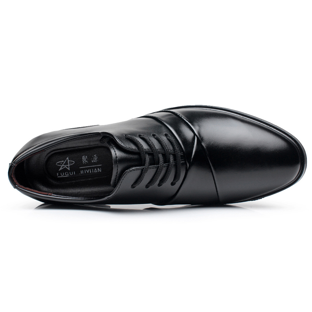 Men Comfy Leather Formal Shoes Pointed Toe Business Shoes