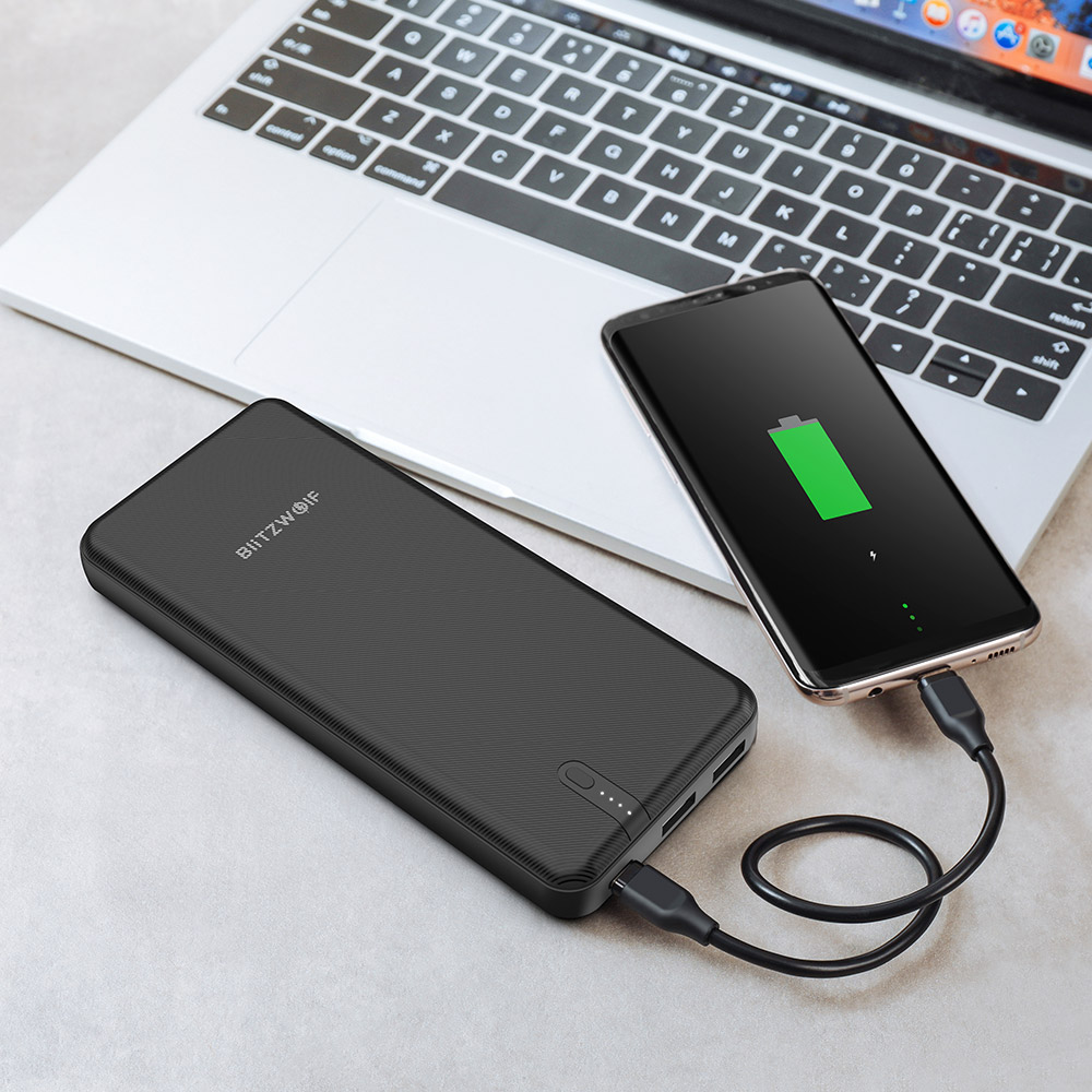 BlitzWolf® BW-P8 20000mAh 45W QC3.0 PD3.0 Dual USB Type C Polymer Fast Charging Power Bank