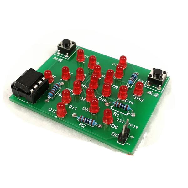 5pcs DC 5V DIY Electronic Windmill Training Kit Speed Adjustable MCU Course Design Set For Soldering