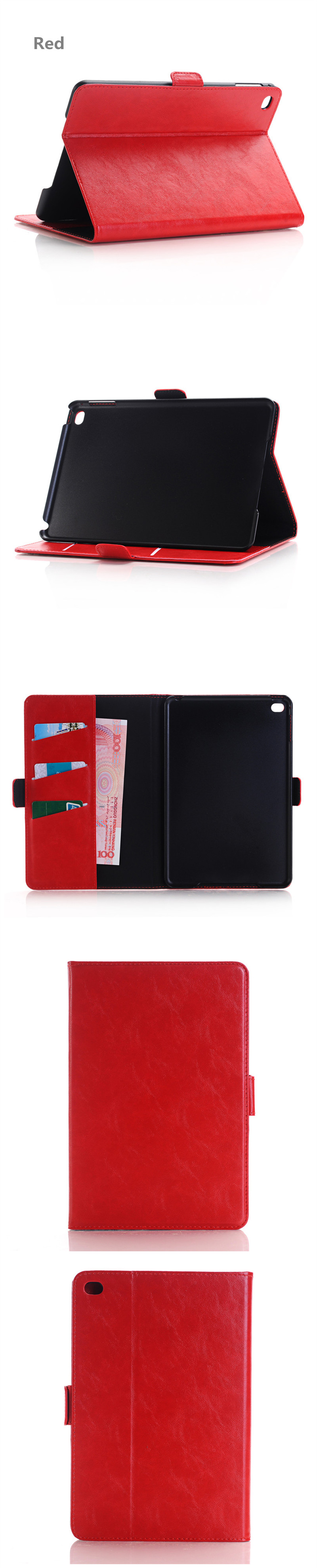 WLD A005 Belt Buckle Shell Flip PU Leather Protective Cases For iPad Mini 4