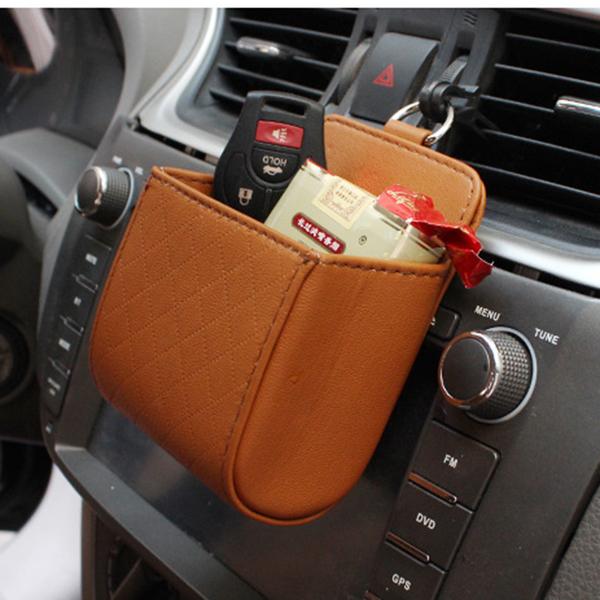 Auto Air Vent Car Storage Bag Multi-functional Phone Bag