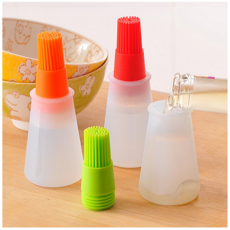 Silicone Oil Brush Baking Brushes Liquid Oil Pen Cake Butter Bread Pastry Brush BBQ Utensil Safety Basting Brush Kitchen Tools