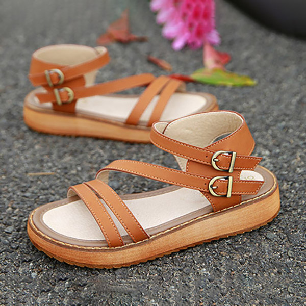Ladies Sandals Cake Heavy Bottom Shoes Roman Sandals