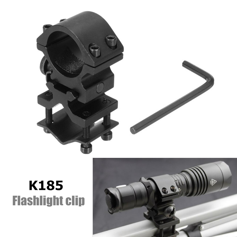 K185 Flashlight Clip Optical Sight Bracket Holder Support ScopE Mount Ring