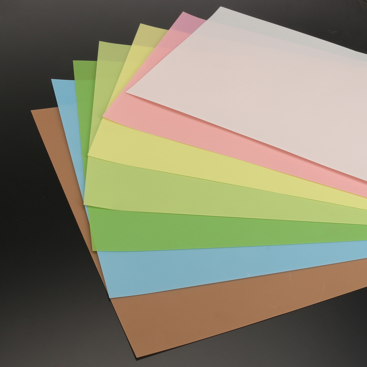 7Pcs 8.7x11 Inch Microfinishing Lapping Film Sheets Each of 0.3 to 30 Micron 7 Colors