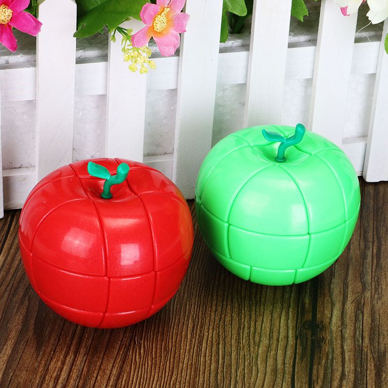 Christmas Third Order Red Green Apple Style Strange-shape Puzzles Magic Finger Cubes For Kids Gift