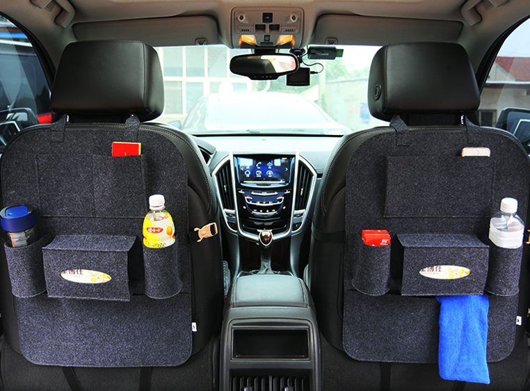 55x41cm Felt Stowing Tidying Multi Pocket Organiser Car Styling Back Seat Storage Bag