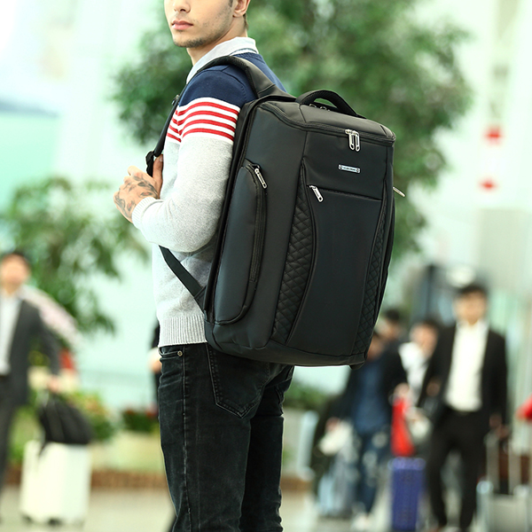 Men Oxford Waterproof Minimalist Backpack Leisure Business Travel Bag Laptop Bag Mochila