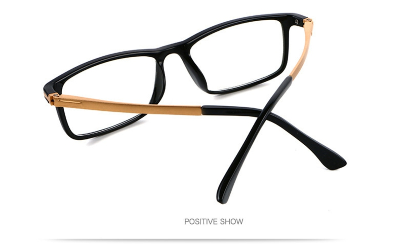 SHUAIDI Anti-blue Anti-fatigue Reading Glasses Black Frame Resin Aluminum Computer Presbyopic Glass 110