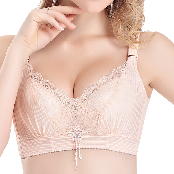 Lace Plunge U Back Mid Thick Gather Bras