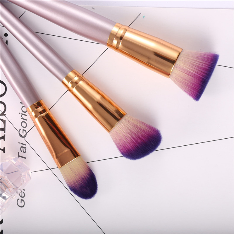 9pcs Luckyfine Soft Makeup Brushes Set Blend Foundation Lips Liner Eye Shadow Powder Cosmetics Tool