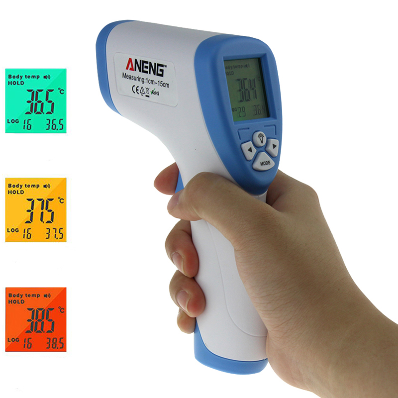 ANENG AN201 Digital Infrared Baby Thermometer Adult Non-Contact Forehead Temperature Meter 32-43℃/90-109.4℉