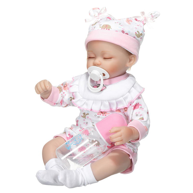 NPK 40cm Vinyl Silicone Reborn Doll Real Life Like Looking Newborn Baby Dolls