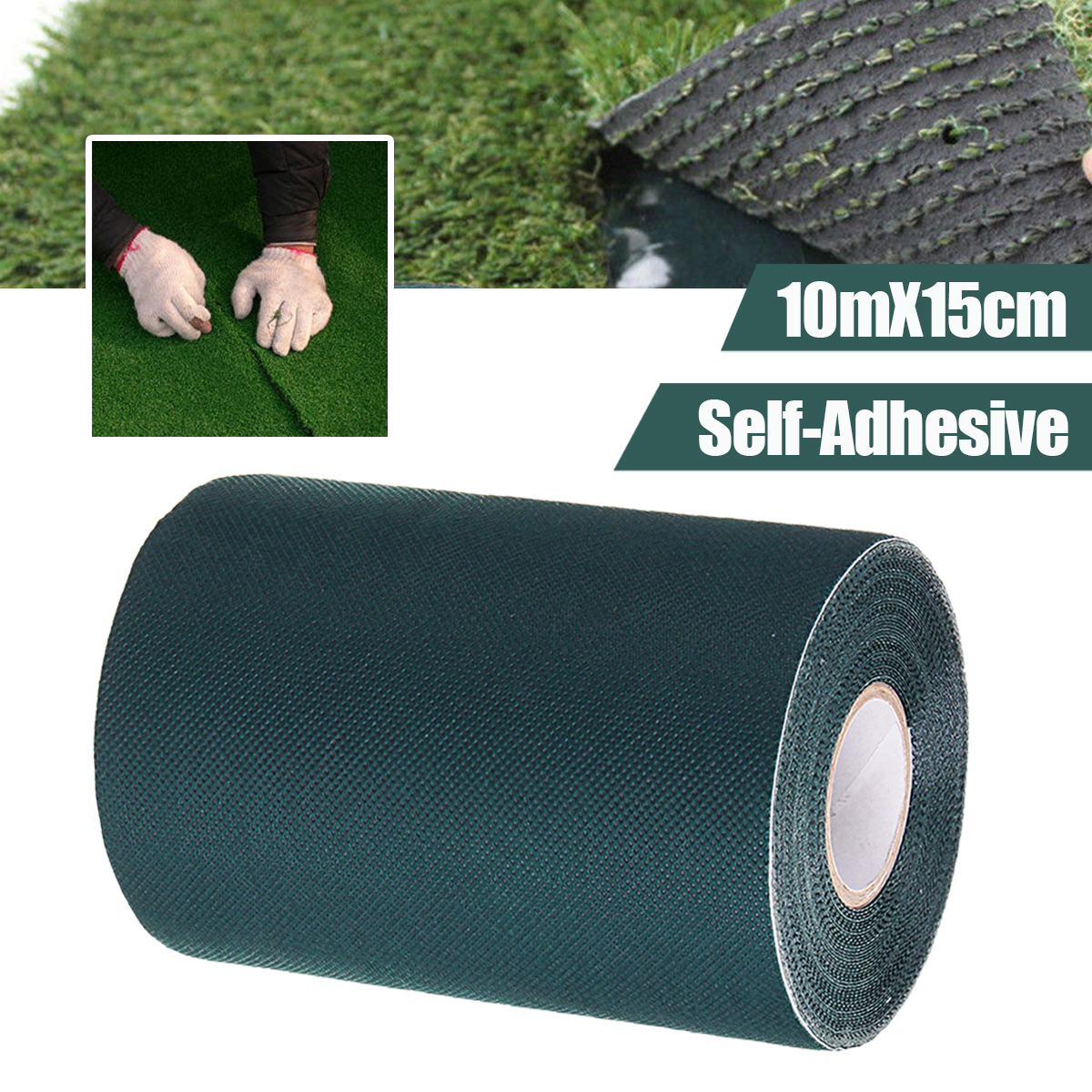 10x0.15m Self-Adhesive Artificial Turf Tape Synthetic Turf Grass Joining Lawn Tape Glue