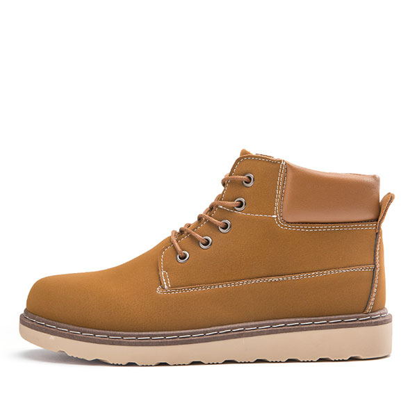 Men Casual Comfortable Leather Lace Up Boots
