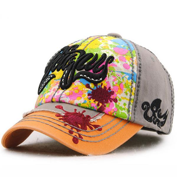 Women Men Cotton Embroidered Graffiti Baseball Cap Outdooors Sport Hip-hop Snapback Hat