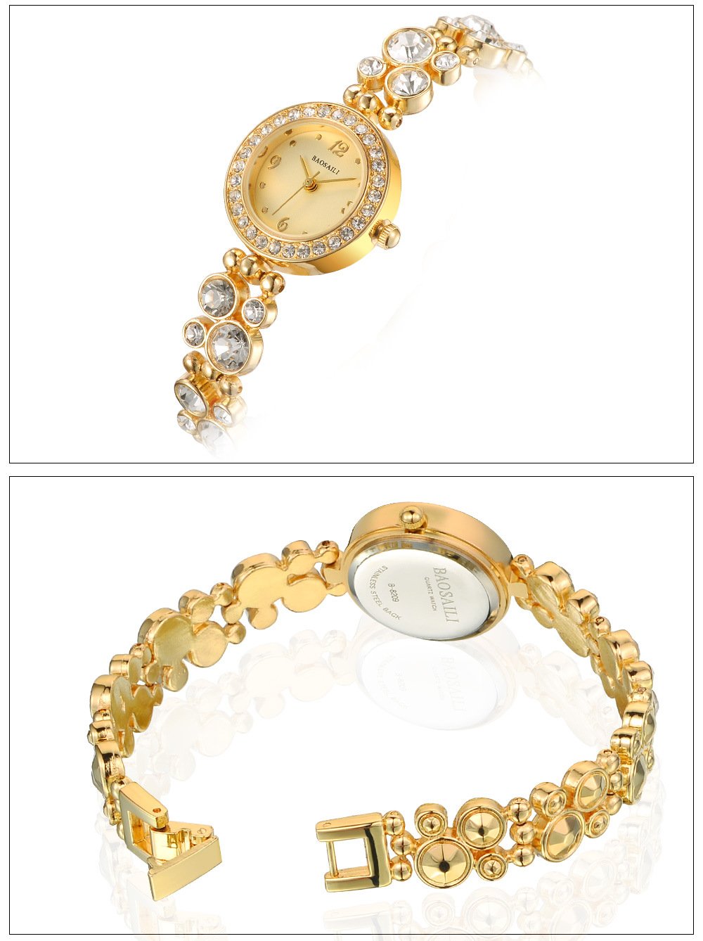 BAOSAILI B-8209 Gleaming Diamond Ladies Bracelet Watch