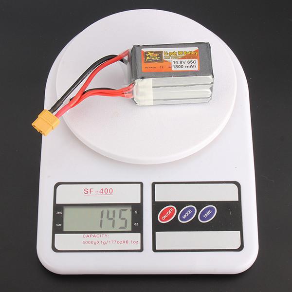 ZOP Alimentation 14.8V 1800mAh 65C 4S Lipo Batterie XT60 Prise