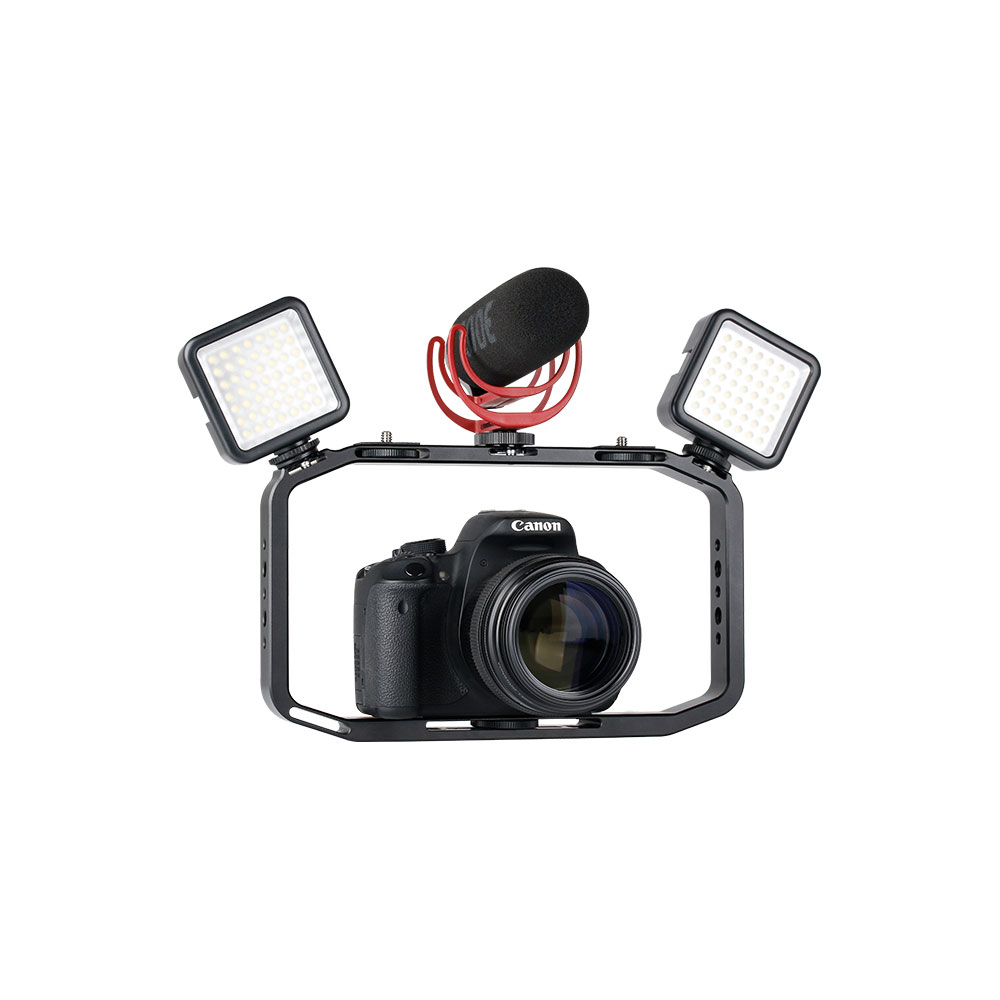 Ulanzi M-Rig Stabilizer Rig Holder with Clip Mount Cold Shoe for Mobile Phone Sport Camera DSLR