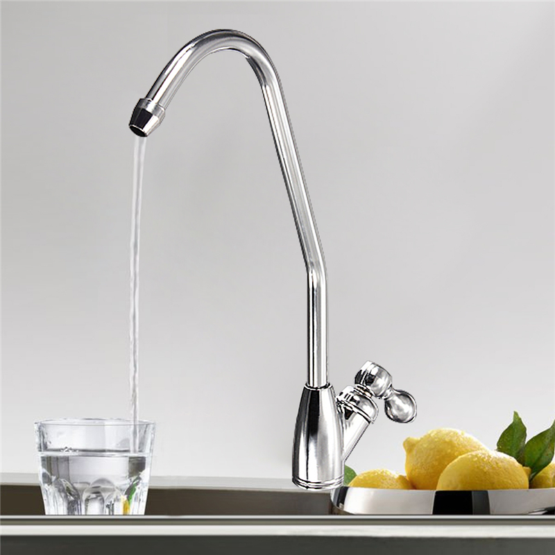 Chrome Drinking Water Filter Faucet Finish Reverse Osmosis Sink Kitchen Home Tap