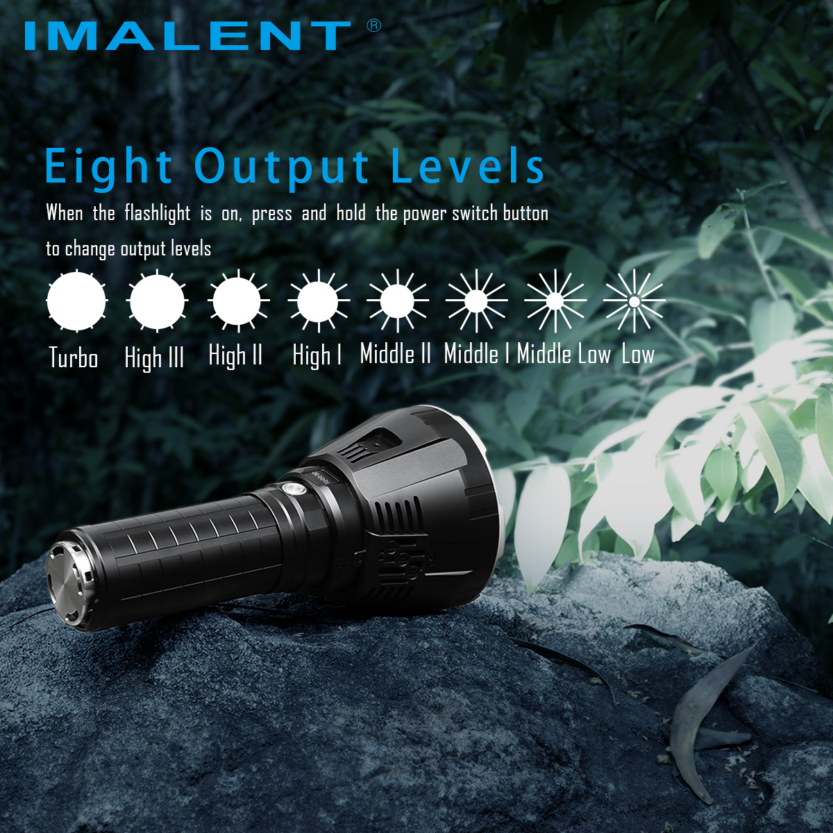 IMALENT R90TS 18x XHP35 HI 36000 Lumens 1750 Meters LED Flashlight