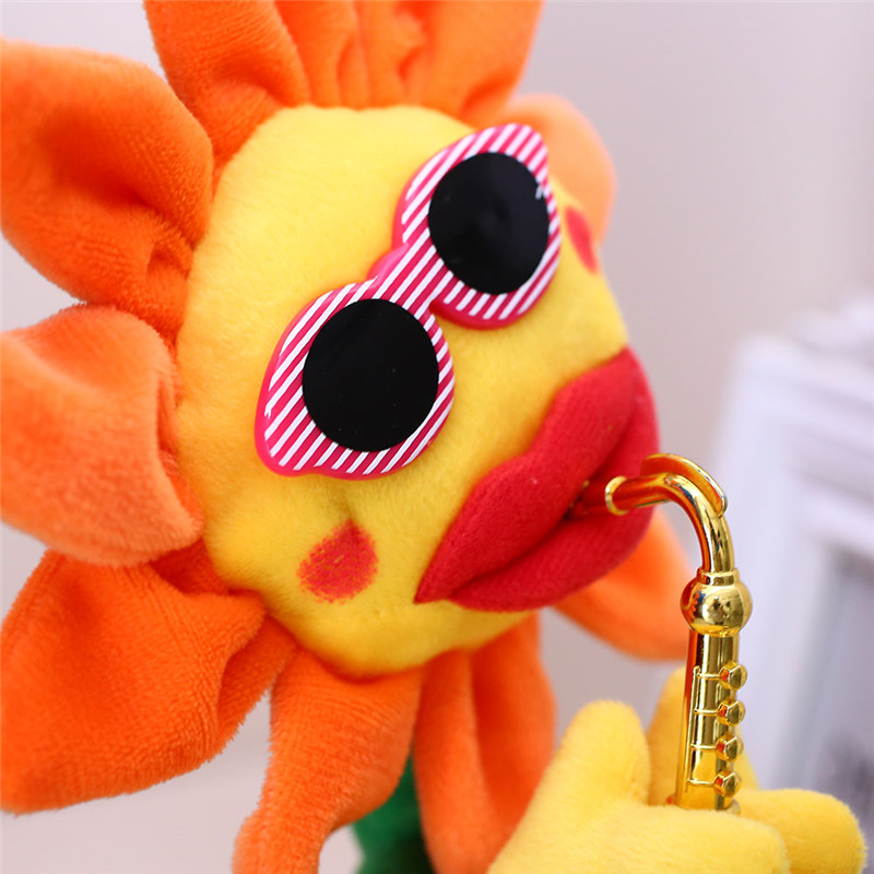 Electric Dancing Music Flower Bewitching Sunflower With Sax Soft Stuffed Plush Kids Gift Novelties Toys
