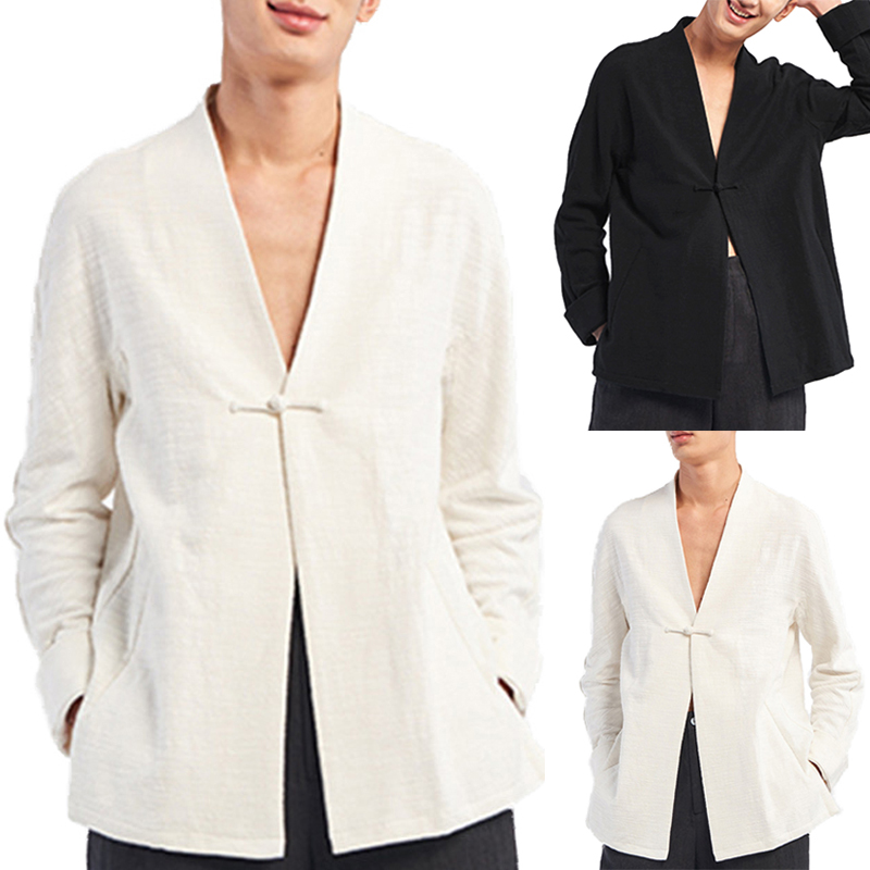 INCERUN Vintage Chinese Style Linen Cotton Loose Shirts