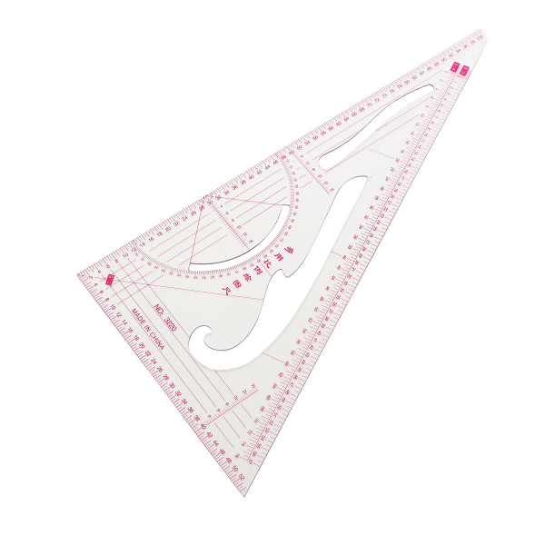 Transparent Plastic Tailor Craft Clothing Drawing Triangular Scale Ruler