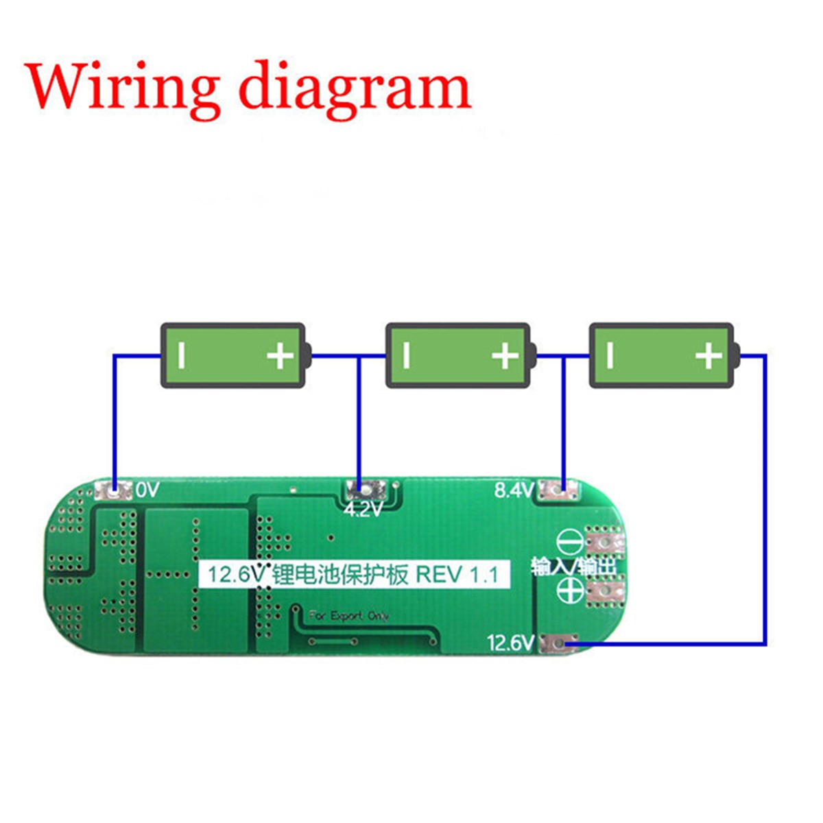 3s 20a Li Ion Lithium Battery 18650 Charger Pcb Bms Protection Board Diagram Fpv Wiring Basic Circuit 1 X