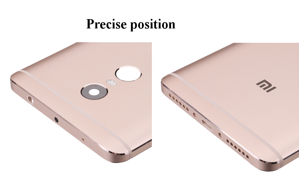 Bakeey Back Battery Cover Replacement With Button Lens Protective Case For Xiaomi Redmi Note 4