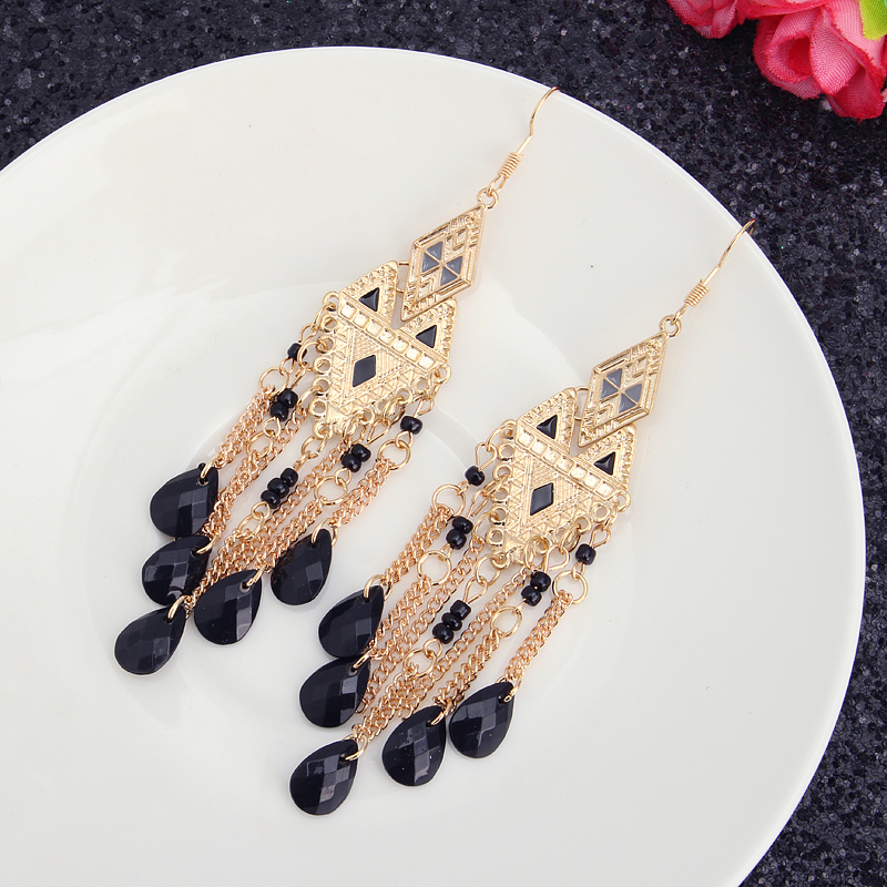 Bohemia Irregular Triangle Drop Tassels Women Earrings