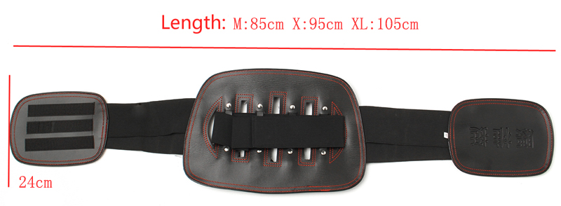 Sport Black Magnetic Heat Waist Belt Brace For Pain Relief Lower Back Therapy Lumbar Disc Support