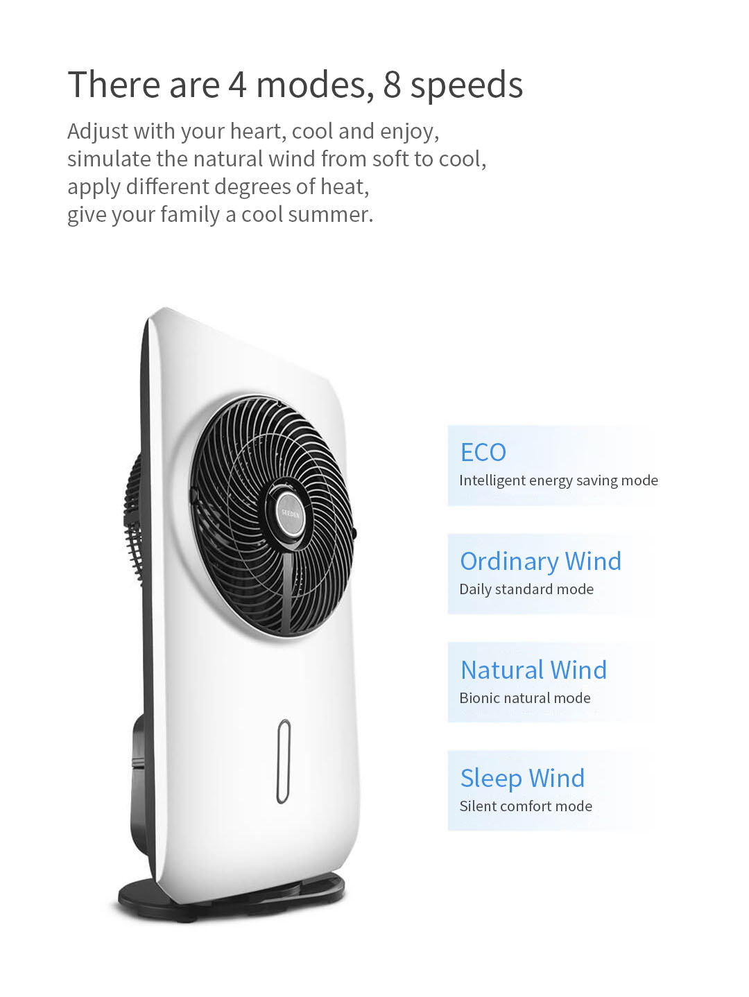 Seeden Fog Cooling Fan Intelligent Atomization System Natural Wind Air Circulation Fan from Xiaomi Youpin