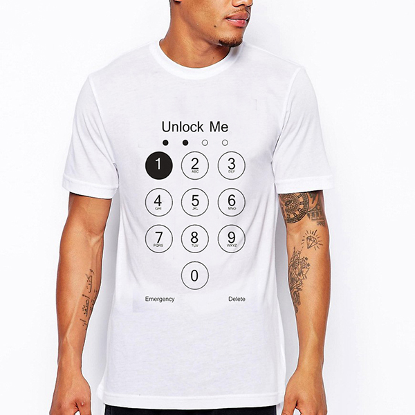 Image of Sommer Mens Number Pattern Printing Casual O-Ausschnitt Kurzarm T-Shirt