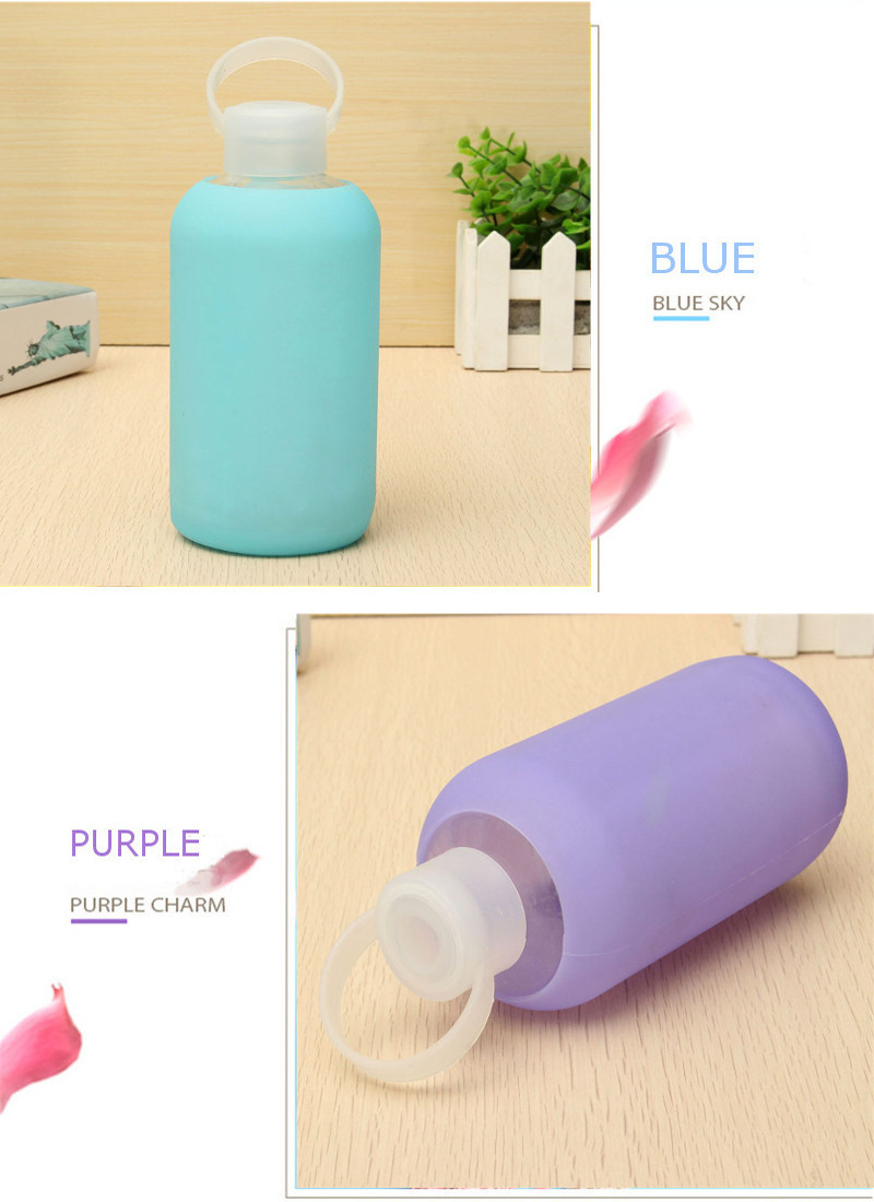 500ml Creative Glass Water Bottle Portable Cute Glass Cups Mini Water Bottle