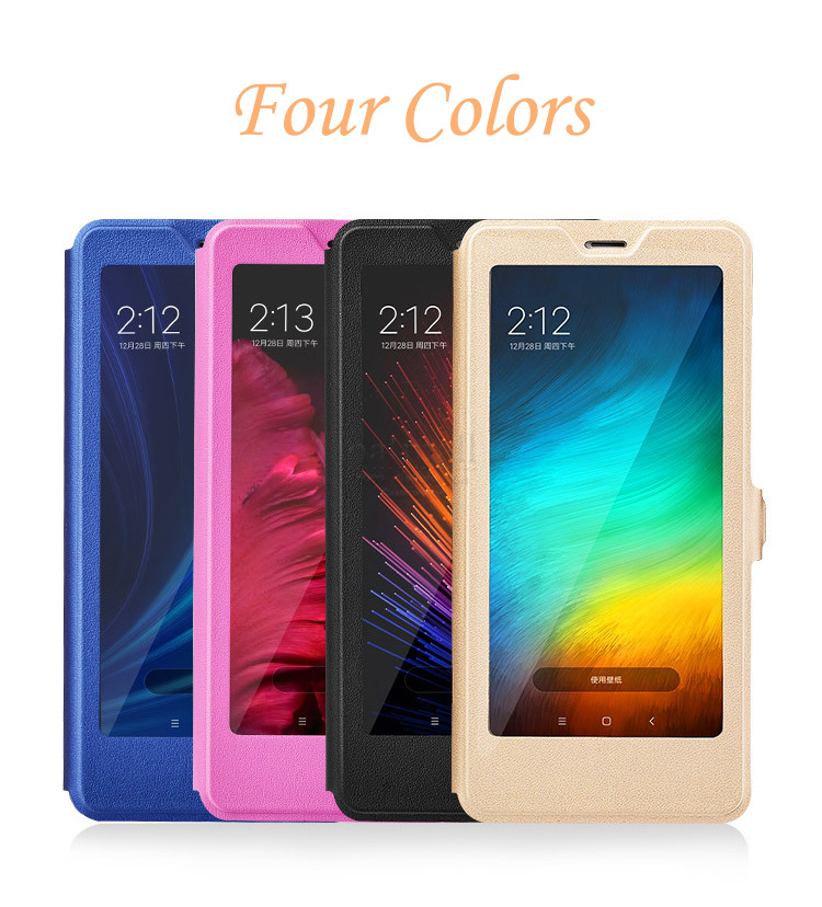 Bakeey Flip Full Smart Window Magnetic PU Leather Protective Case For Xiaomi Redmi Note 5