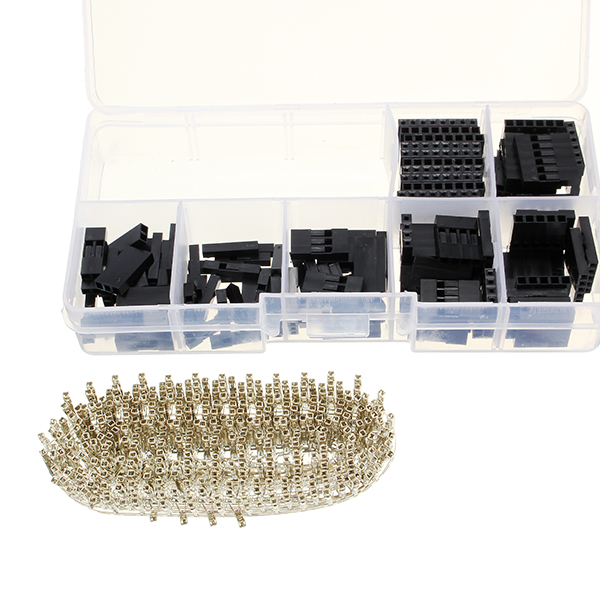 470Pcs 2.54mm Male Female Dupont Wire Jumper With Female Connector Housing Kit