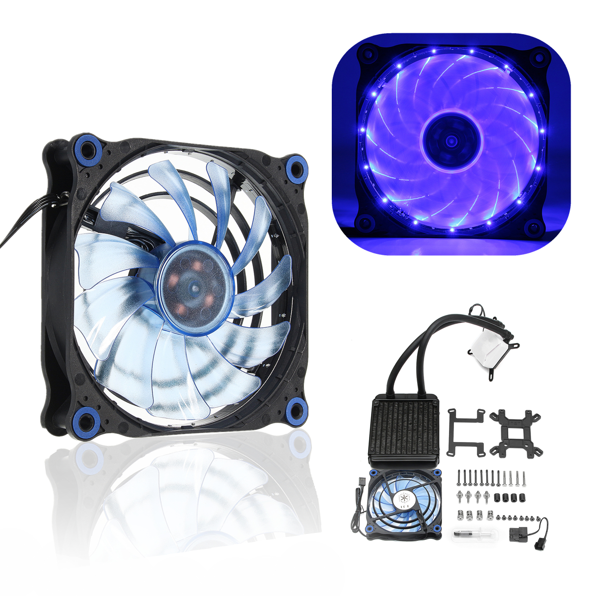 120mm Water Element 120t 240K Water Cooling System CPU Liquid Cool Fan for PC Hardcore
