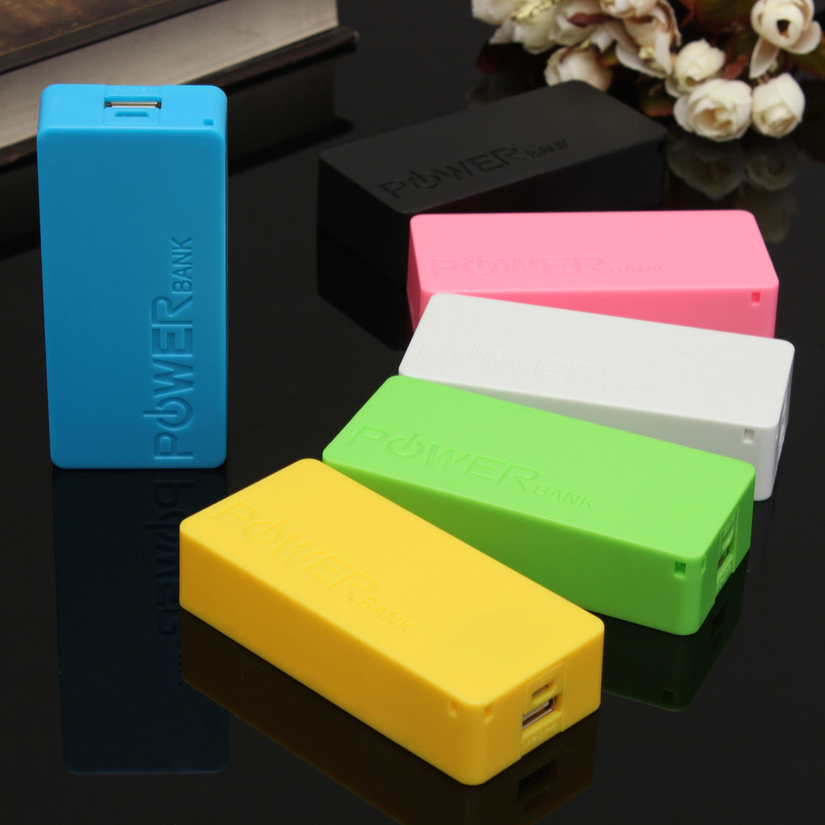 5600mAh 2X 18650 USB Power Bank Battery Charger Case DIY Box For iPhone Sumsang