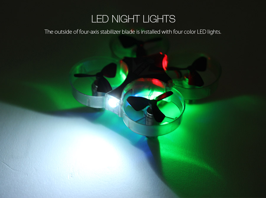 Eachine E012 Mini 2.4G 4CH 6 Axis Headless Mode LED Light RC Drone Quadcopter RTF