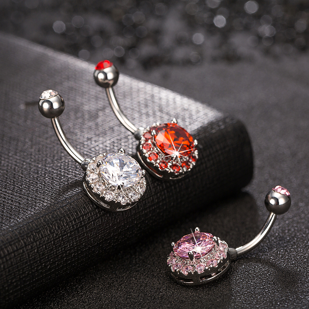 Trendy Dazzling Zirconia Crystal Body Jewelry Fashion Belly