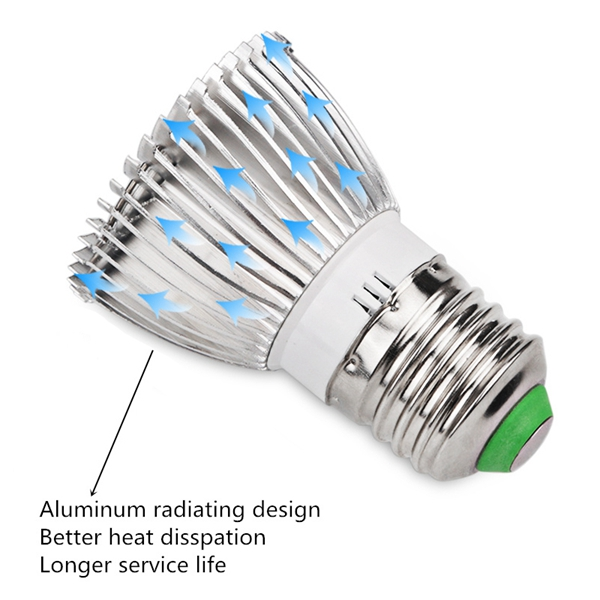 ARILUX® E27 7.5W LED 12 Red 6 Blue Plant Grow Light Bulb for Garden Hydroponics Greenhouse Organic