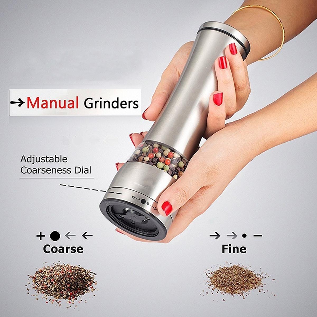 Adjustable Hand Stainless Steel Salt Mill Spice Sauce Pepper Grinder Muller Tool
