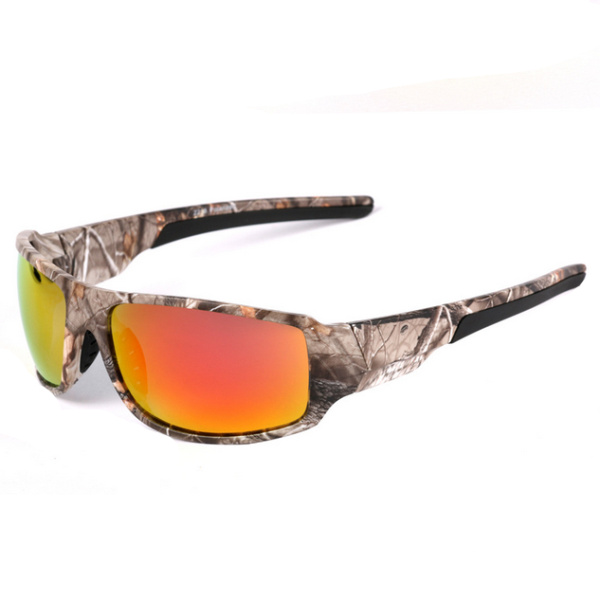 Mens UV400 Polarized Sunglasses Camouflage Design Driving Goggle Outdoor Sport Fishing Glasses